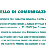 Comunicazione delle operazioni effettuate con soggetti black list
